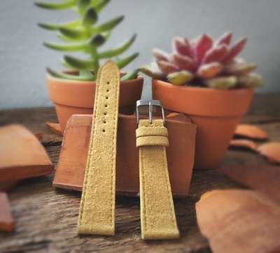 Alcantara strap for various compatibility Leather colour: Yellow